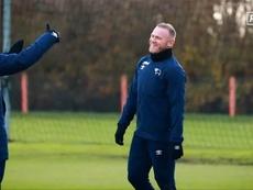 Rooney entrenó por primera vez con el Derby County. Captura/RamsTV