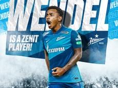 Wendel deixa o Sporting e assina com o Zenit. Twitterfczenit_en