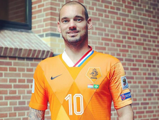 Wesley Sneijder was given this shirt after making 134 appearances. Instagram/wesneijder10official