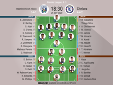 West Brom v Chelsea. Premier League 2020/21. Matchday 3, 26/09/2020. BeSoccer