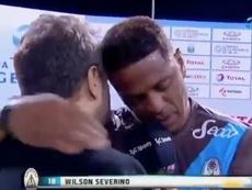 El jugador no pudo contener su emoción ni durante la entrevista. Twitter