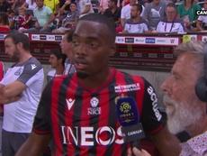 Cyprien se mostró disconforme con el parón en el partido. Captura/Canal+
