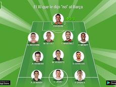 El XI que dijo 'no' al Barcelona. BeSoccer
