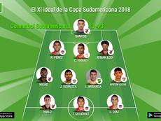 XI ideal de la CONMEBOL Sudamericana. BeSoccer