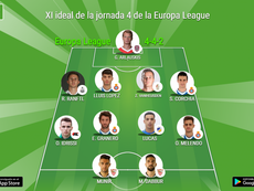XI ideal de la Jornada 4 de la Europa League. BeSoccer