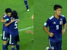 El japonés está brillando con su Selección. Capturas/TelemundoDeportes