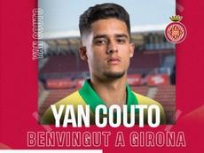 El City cede a Yan Couto al Girona. Twitter/GironaFC