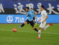 Carrasco ha jugado casi 50 partidos en China. Twitter/CarrascoY21