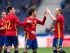Silva et Iniesta s'entendaient à merveilles au centre du terrain de la 'Roja'. EFE