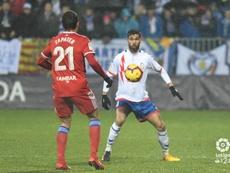 El Zaragoza empató en la recta final del partido. LaLiga