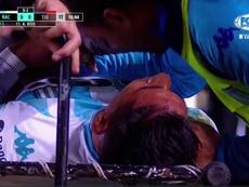 Zaracho cayó lesionado en el primer tiempo frente a Tigre. Captura/FOXSports