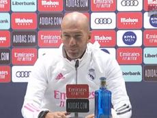 Zidane était en conférence de presse. Capture/RealMadrid