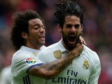 Zidane's first squad list includes both Isco and Marcelo. AFP
