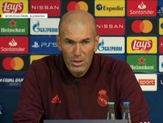 Zinedine Zidane spoke to the press. Screenshot/RealMadrid
