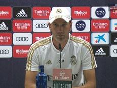 Zidane était en conférence de presse. Capture/RMTV