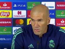 Zidane a réitéré son envie de rester au Real. Capture/RealMadridTV