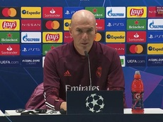 Zidane en conférence de presse. Captura/RealMadrid