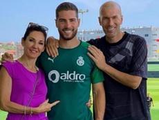Zidane a rendu visite à Luca lors de son jour de repos. Instagram/Zidane