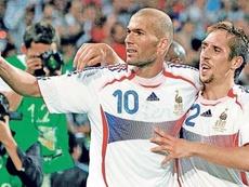 Ribéry se acordó de Zidane en su entrevista. AFP