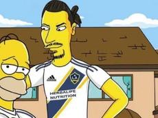 Ibra rejoint Homer et Bart Simpson.  Twitter/Ibra_official