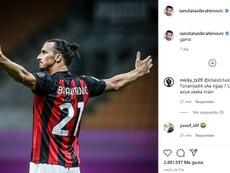 Ibrahimovic presumió de partidazo en las redes. Instagram/iamzlatanibrahimovic