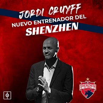Jordi Cruyff, nuevo entrenador del Shenzhen, 19/11/2020