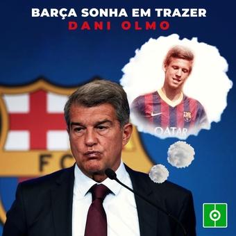 Barça sonha em trazer Dani Olmo, 11/09/2021