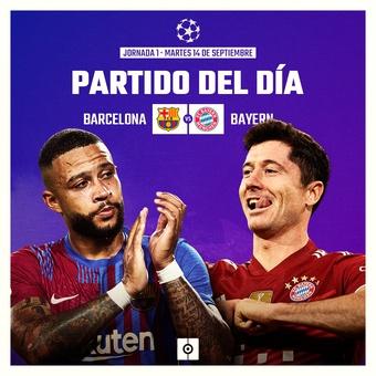 Partido del día J1 Champions League, 14/09/2021
