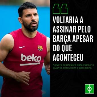 AGÜERO VOLTARIA A ASSINAR COM O BARÇA APESAR DE TUD, 10/09/2021