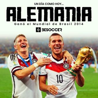Un día como hoy Alemania ganó el mundial de Brasil 2014, 26/11/2020