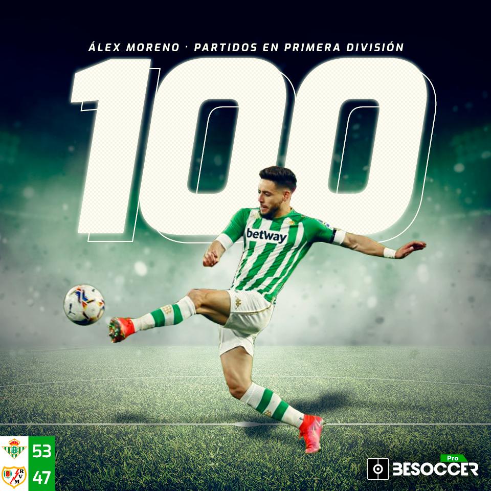 Alex Moreno 100 partidos en primera