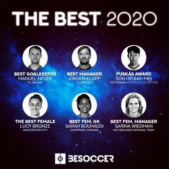 Resto premios The Best, 17/12/2020