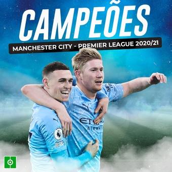 Manchester City -  Campeoes Premier League 20-21, 12/05/2021