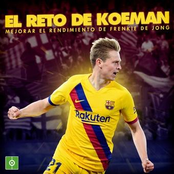 El reto de Koeman con Frenkie de Jong, 12/11/2020