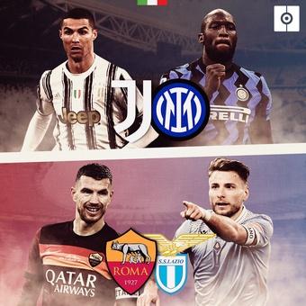 Previas: Juve - inter y Roma - Lazio, 15/05/2021
