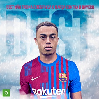 Dest não treina e desfalca o Barça contra o Ba, 14/09/2021
