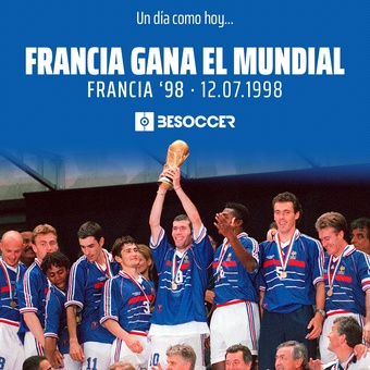 Un día como hoy Francia ganó el Mundial de 1998, 16/12/2020