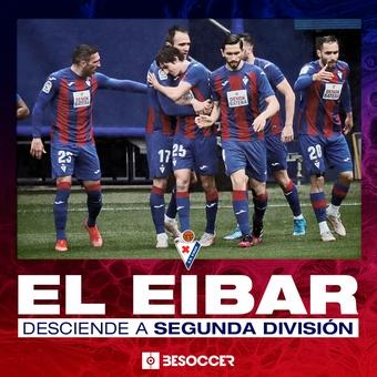 El Eibar desciende a Segunda División, 16/05/2021