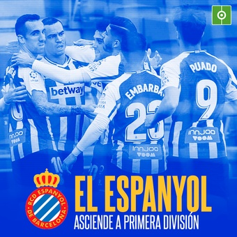 El espanyol sube a Primera , 08/05/2021