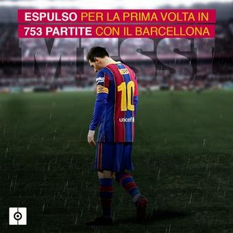 Messi expulsado, 18/01/2021