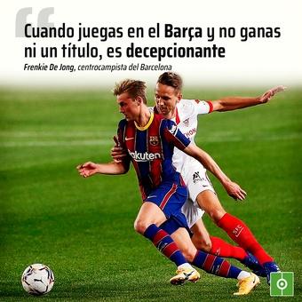 De Jong... Cuando juegas en el Barça y no ganas ni un título, es decepcionante, 12/11/2020