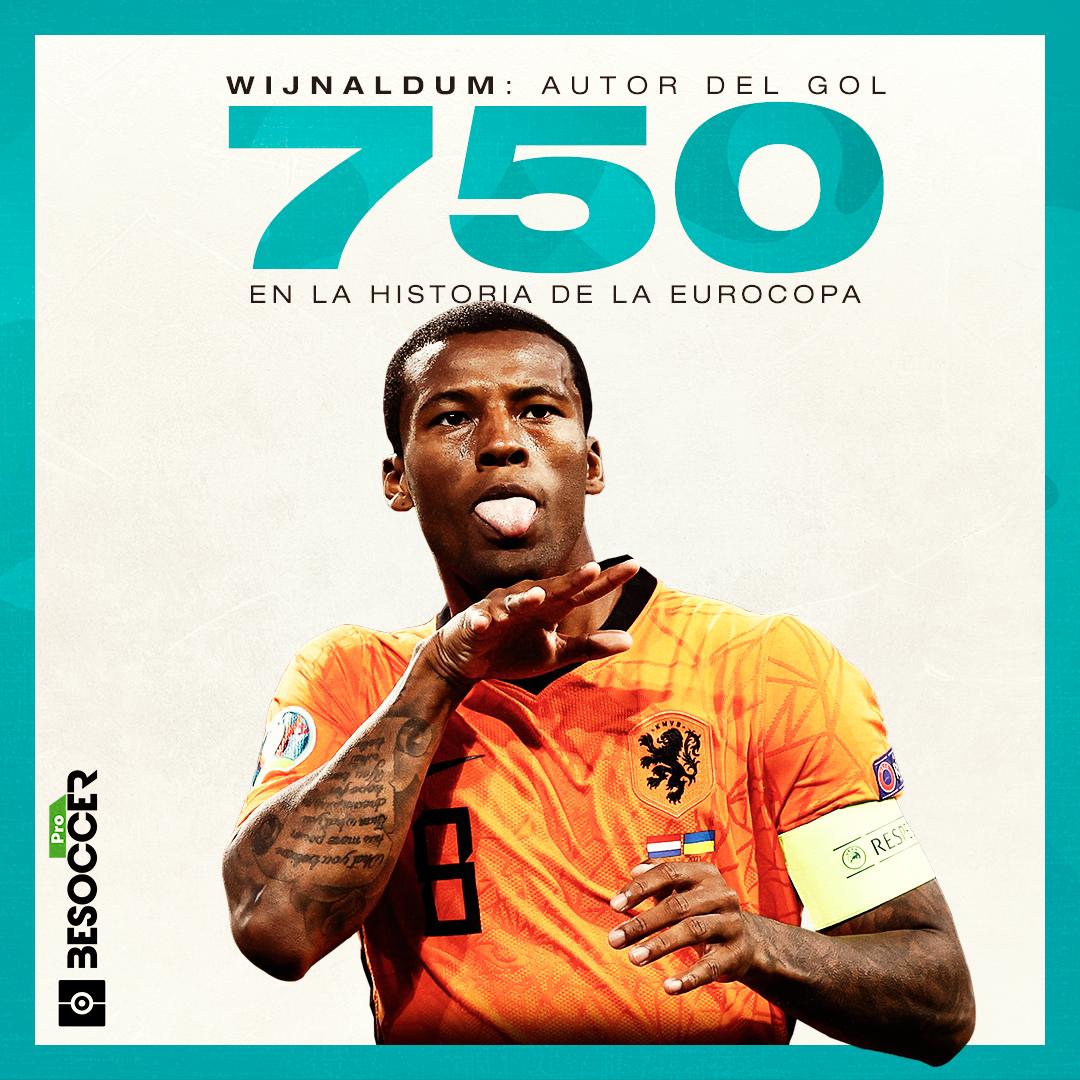 Wijnaldum marca el gol 750 de la EURO