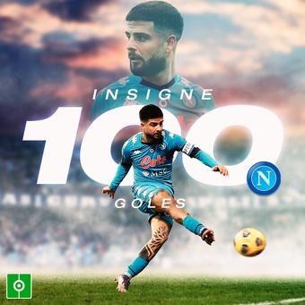 Insigne, 100 goles con el Napoli, 14/02/2021