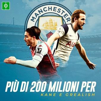 Più di 200 milioni per Kane e Grealish, 17/07/2021