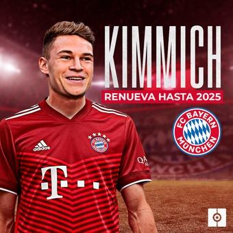 Kimmich renueva con el Bayern hasta 2025, 23/08/2021