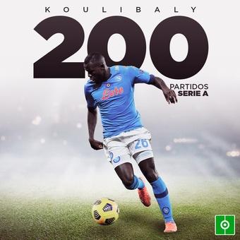 Koulibaly 200 partidos Serie A, 28/02/2021