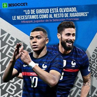 Cita Mbappé sobre Giroud, 15/06/2021