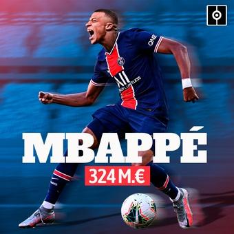 Mbappé 324 M. €, 18/11/2020
