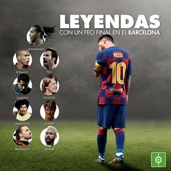 Leyendas con feo final en el Barcelona, 26/11/2020
