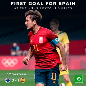 First goal for Spain at the 2020 Tokyo Olympics, 26/07/2021